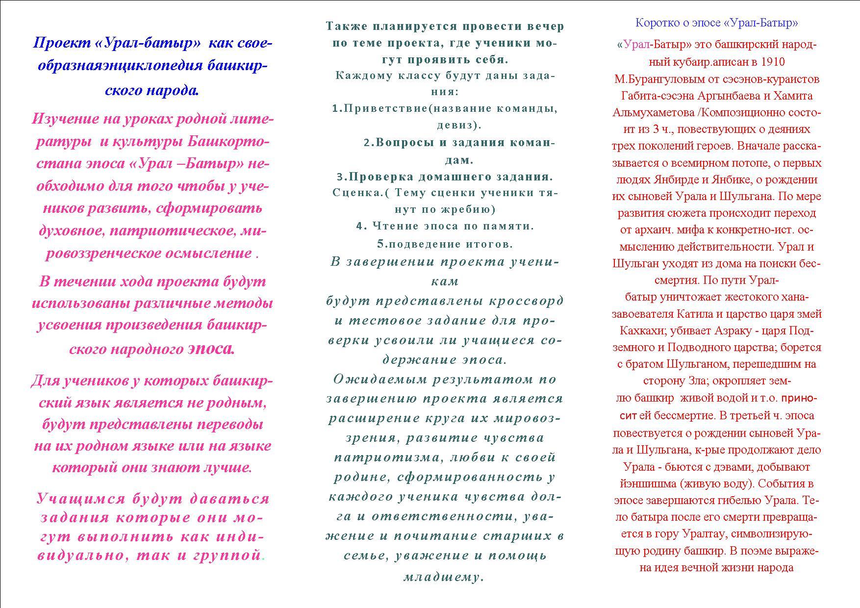 Сценарии на башкирском языке