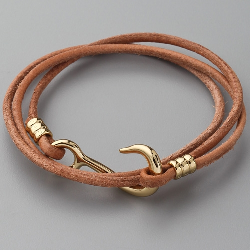 Браслеты из кожаного шнура своими руками