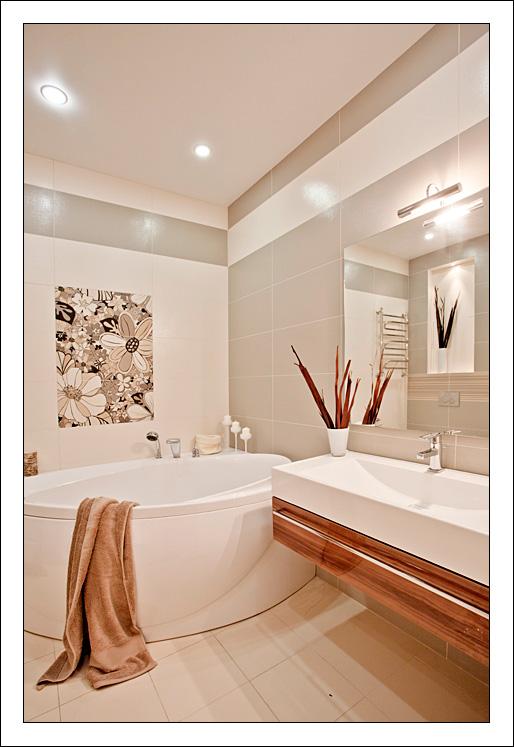 Ванная матовая плитка на стенах