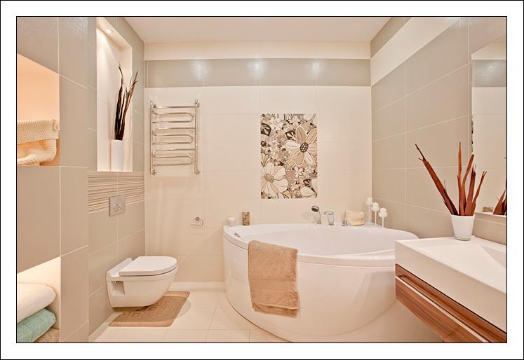 Бежевая плитка для ванной фото
